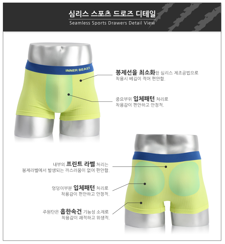 [ innerbeast ] Men\'s seamless sport drawers 11
